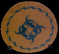 Motif Terracotta Plate - Lou Van Loon