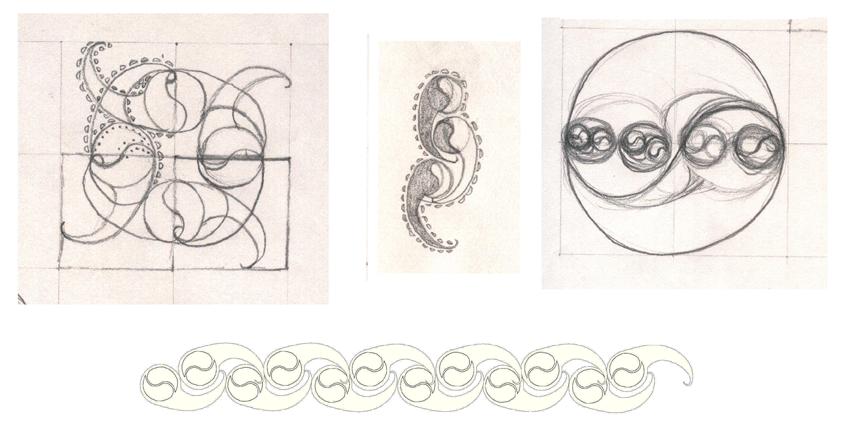 Concept Sketches Ceramics, Plate, Print - Lou Van Loon